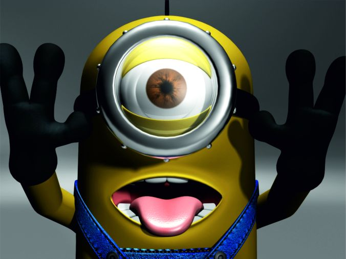 minion tongue out